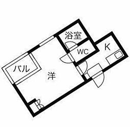東京都世田谷区船橋2丁目の賃貸マンションの間取り