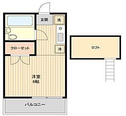 東京都練馬区関町南4丁目の賃貸アパートの間取り