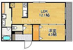 (仮称)上賀茂豊田町共同住宅[105号室号室]の間取り