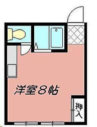 コーポ石田[201号室]の間取り