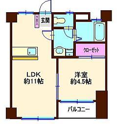 第一暘ビル[4階]の間取り