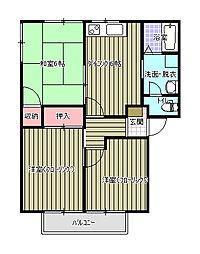 アネックスR・Sすみの B棟[1階]の間取り
