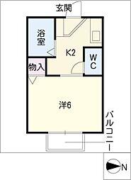 デュークカトウ[1階]の間取り