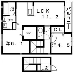 Deuxmaisons照ヶ丘[2階]の間取り