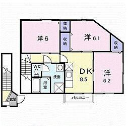 クレア21[2階]の間取り