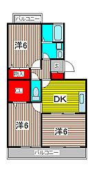 埼玉県さいたま市南区大字太田窪の賃貸アパートの間取り