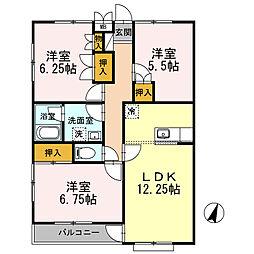 ツインベル長澤[2階]の間取り