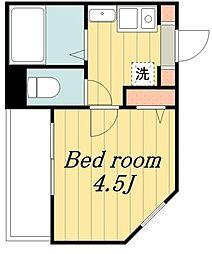 東京メトロ千代田線 北綾瀬駅 徒歩15分の賃貸アパート 3階1Kの間取り