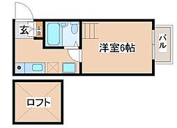 兵庫県神戸市須磨区天神町4丁目の賃貸マンションの間取り