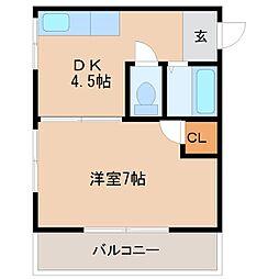 マロンハウス[303号室]の間取り
