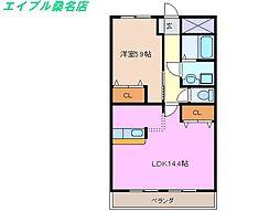 三重県桑名市大字小貝須の賃貸アパートの間取り