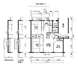 UR賃貸住宅 若山台第4 13棟[304号室]の間取り