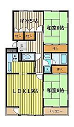 プロシード富士見[204号室]の間取り