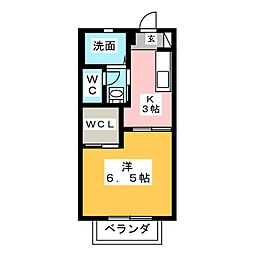 グリーンコーポ C[2階]の間取り