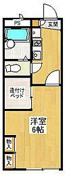 レオパレスキタノダ[2階]の間取り