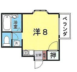 LEXUS7 1階ワンルームの間取り