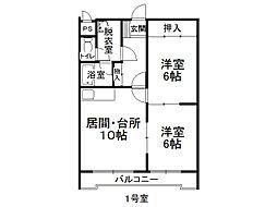 171マンションA棟[101号室]の間取り