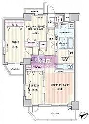 パレステージ片倉町ナチュラコート[2階]の間取り