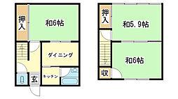 [一戸建] 兵庫県姫路市八代 の賃貸【/】の間取り