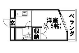 福井マンション[305号室]の間取り