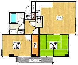 グラナイト甲子園2若草[2階]の間取り