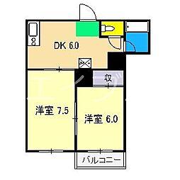 長崎ハイツ[1階]の間取り