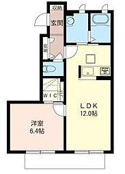 埼玉県さいたま市緑区東浦和9丁目の賃貸アパートの間取り