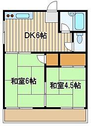 東京都練馬区西大泉5の賃貸アパートの間取り