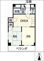 シャルム恵 A〜Dタイプ[2階]の間取り