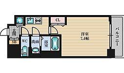 Luxe新大阪5 11階1Kの間取り