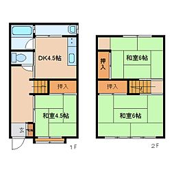 [一戸建] 奈良県奈良市西木辻町 の賃貸【/】の間取り