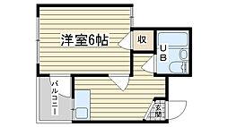 大阪府高槻市京口町の賃貸マンションの間取り
