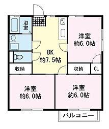 ハイム富士見A[0203号室]の間取り