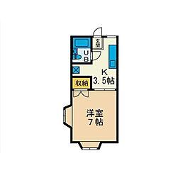 パールハイツI[1階]の間取り