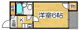 プレステージ堺[2階]の間取り
