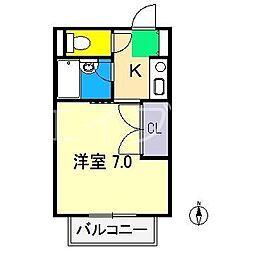 My Flat 2nd 4階1Kの間取り