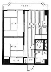 東京都板橋区赤塚新町2丁目の賃貸マンションの間取り
