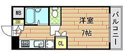 ノアーズアーク長田21[305号室]の間取り