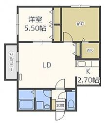 リリアムハウス[4階]の間取り