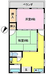 シノザキハイホーム[401号室]の間取り
