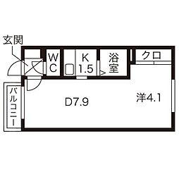 カサデューク澄川82[1階]の間取り