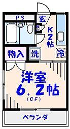 エクセル貴多川第2[215号室]の間取り