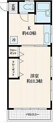 グランディール高島平II[2階]の間取り