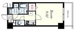 JR東海道・山陽本線 西宮駅 徒歩10分の賃貸マンション 4階1Kの間取り