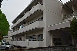 岡山県岡山市北区兵団の賃貸マンションの外観