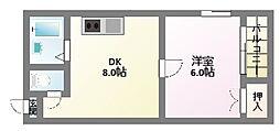 KY駒川駅前ビル[5階]の間取り