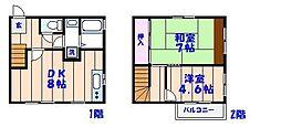 [テラスハウス] 千葉県船橋市海神5丁目 の賃貸【/】の間取り