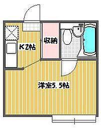 千葉県松戸市南花島2丁目の賃貸アパートの間取り