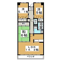 グラスランド 21[4階]の間取り