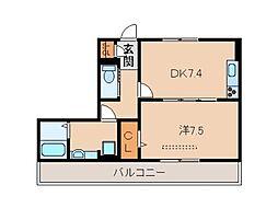 ノーブル希[2階]の間取り